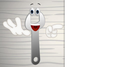 Funny Wrench Cartoon Animation Pack 0