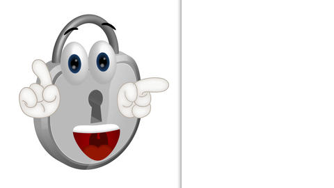 Funny Padlock Cartoon Animation Pack
