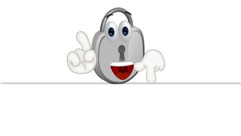 Funny Padlock Cartoon Animation Pack 0
