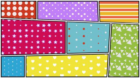 Pop art pattern background Animation
