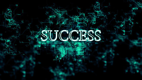 """Digital network with """"Success"""" text Footage"""