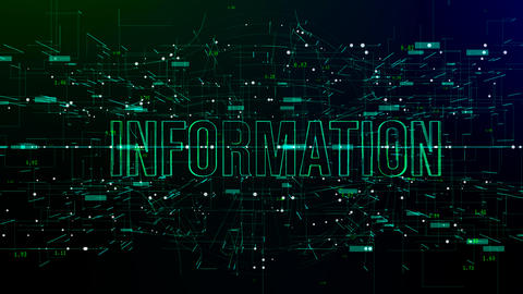 Digital space with 'Information' text Live Action