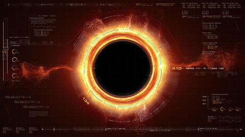 Futuristic Black Hole Simulation HUD Animation