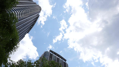 Big city Tokyo luxury Tower apartment of Japan Footage