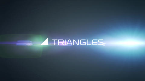 4k Cool Triangles Opener After Effects Template
