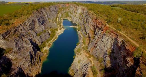 07a Aerial Gorge Lom Velka Amerika Czech Republic 4K Footage