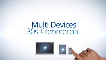 Multi Devices 30s Commercial - After Effects Template stock footage