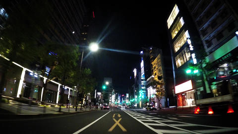 Tokyo, Roppongi. Near Midtown. The scenery of Tokyo at night Stock Video Footage