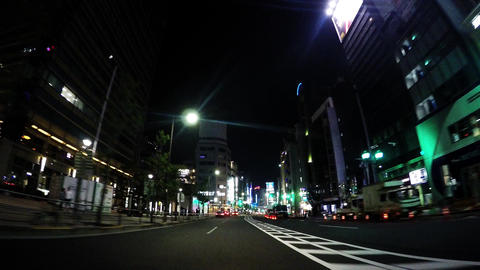 Tokyo, Roppongi. Near Midtown. The scenery of Tokyo at night Footage