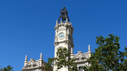 Town Hall in the Historical Center of Valencia Live Action