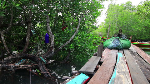 Fishing village on small island Footage