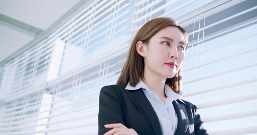 success asian business woman Live影片