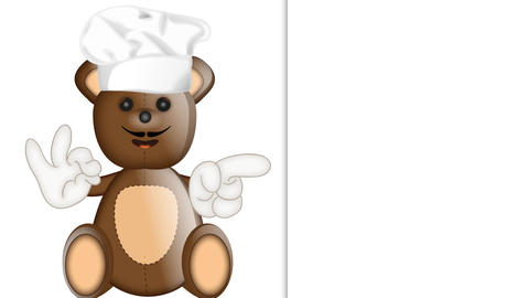 Funny Teddybear Cook Animation Pack