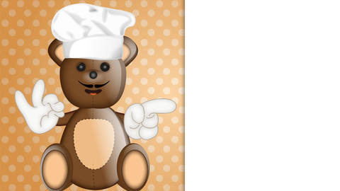Funny Teddybear Cook Animation Pack 0