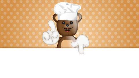 Funny Teddybear Cook Animation Pack 1