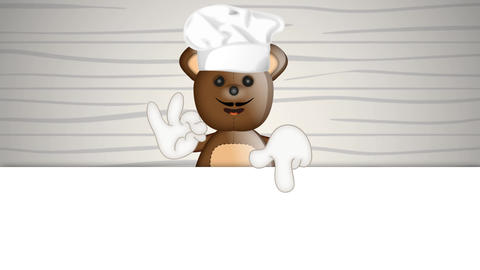 Funny Teddybear Cook Animation Pack 2