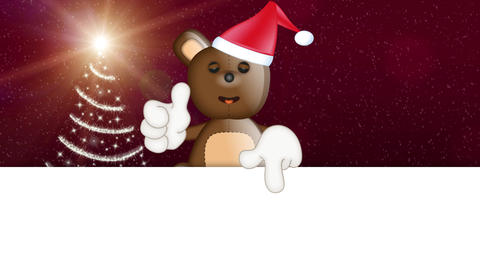 Teddy Bear Christmas Animation Pack 1