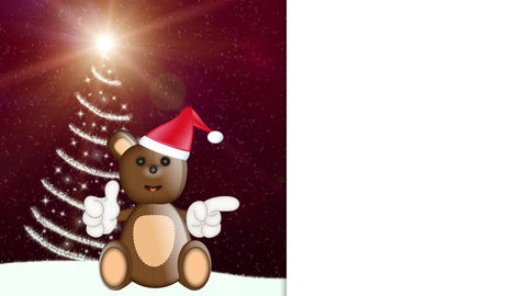 Toby Ted Teddy Bear Christmas Advertising Space CG動画