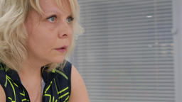 Woman training on the indoor bike Footage