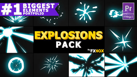 Explosion Elements Pack Motion Graphics Template