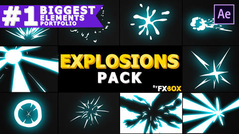 Explosion Elements Pack After Effectsテンプレート