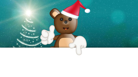 Toby Ted Teddy Bear Christmas Advertising Space Animation