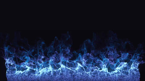Blue fire After Effects Template