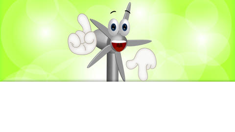 Funny Wind Power Turbine Animation Pack 1