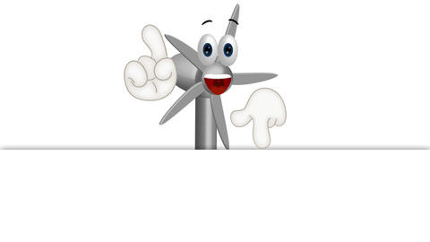 Funny Wind Power Turbine Animation Pack 2