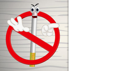 Funny No Smoking Sign Animation Pack