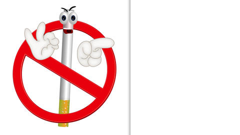 Funny No Smoking Sign Animation Pack 0
