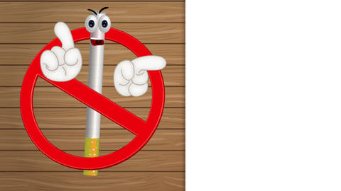 Funny No Smoking Sign Animation Pack 1