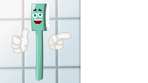 Funny Toothbrush Cartoon Animation Pack 1