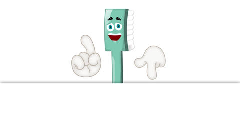 Funny Toothbrush Cartoon Animation Pack 2