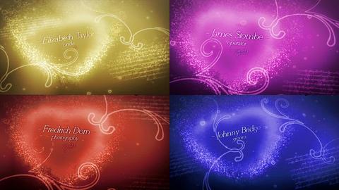 Love Story Romantic Titles モーショングラフィックステンプレート