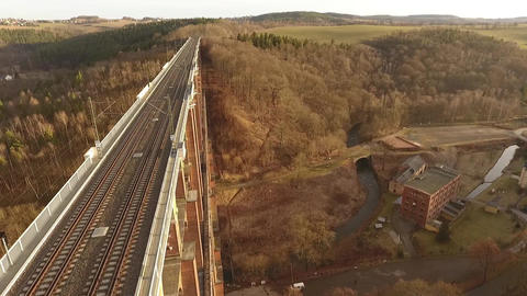 Goeltzsch valley bridge europe germany thuringia travelling Live Action