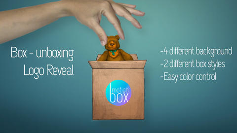 Box – Unboxing Logo Reveal After Effects Template