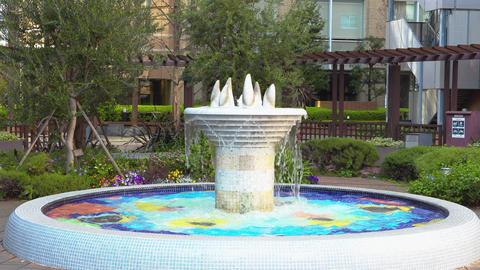 中庭の噴水02 ビデオ