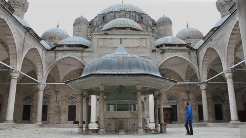 "Sehzade Mosque 16th century, Old Ottoman Turkish architecture. Mimar Sinan (""Architect Sinan"") or Footage"