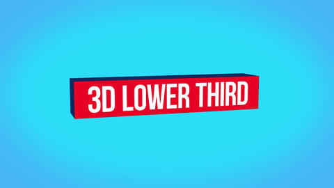 3D Lower Third Motion Graphics Template