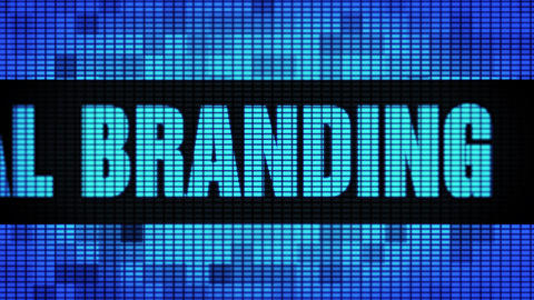 personal branding Front Text Scrolling LED Wall Pannel Display Sign Board Footage