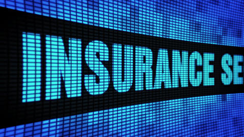 insurance services Text Scrolling LED Wall Pannel Display Sign Board Live Action