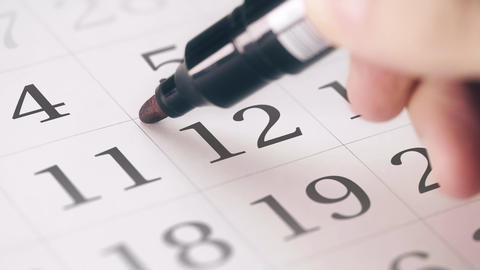 Marked the twelfth 12 day of a month in the calendar transforms into SAVE THE Footage