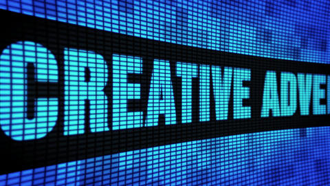 Creative advertising Side Text Scrolling LED Wall Pannel Display Sign Board Live Action