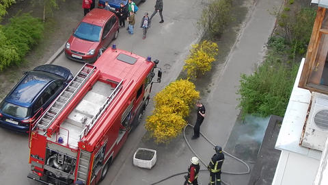 Firefighters Work