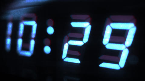 4K Digital Clock Turn to 10 30 Futuristic Design 1 Footage