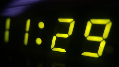 4K Digital Clock Turn to 11 30 Footage