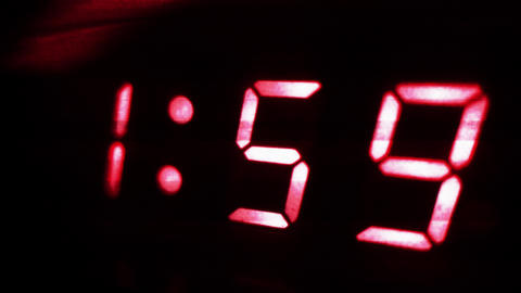4K Digital Clock Turns to 2 Sci Fi Design 2 Footage