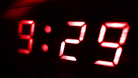 4K Digital Clock Turn to 9 30 Futuristic Design 2 Footage
