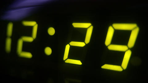 4K Digital Clock Turn to 12 30 Footage